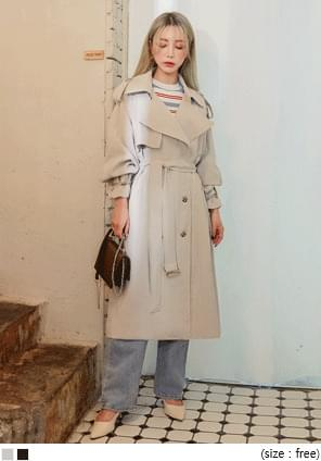 SORNY CUPRA DOUBLE TRENCH COAT coat