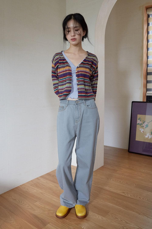 wide pot denim pants