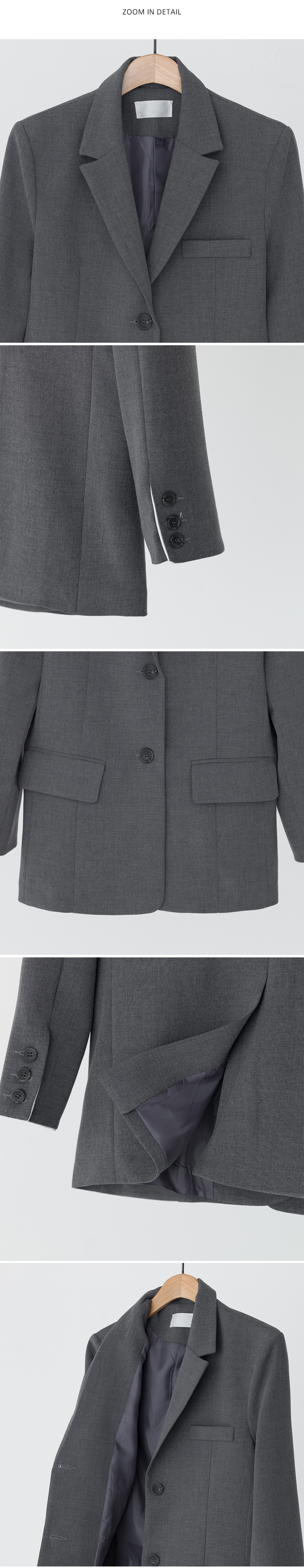 Daily sleeves 2-button jacket