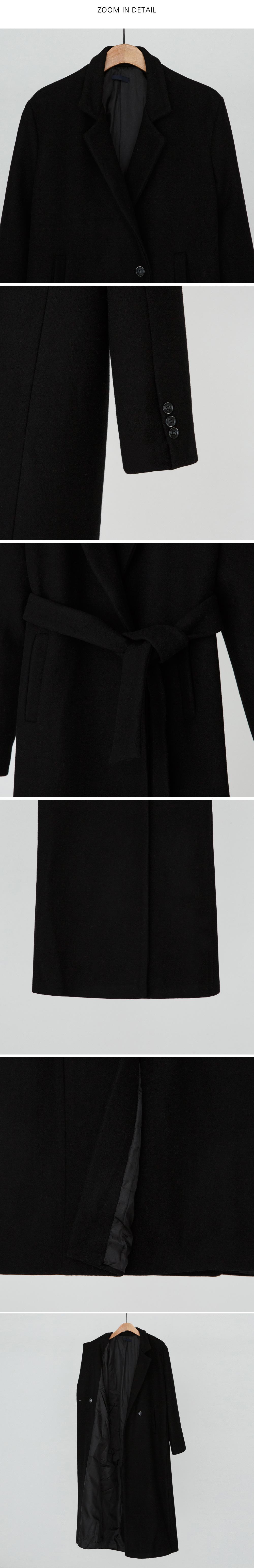 Classic strap wool coat