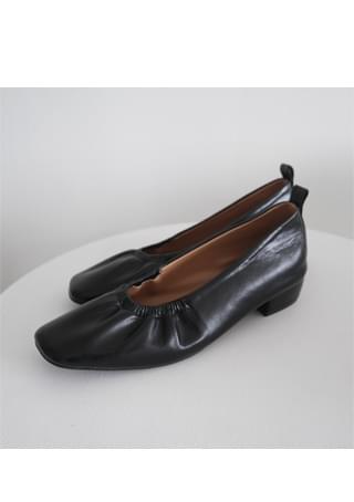 shirring banding flat shoes (2colors)