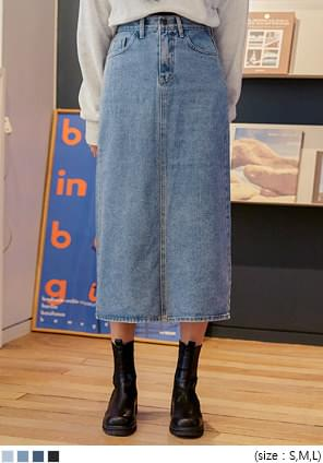 MONTY SLIT DENIM LONG SKIRT スカート