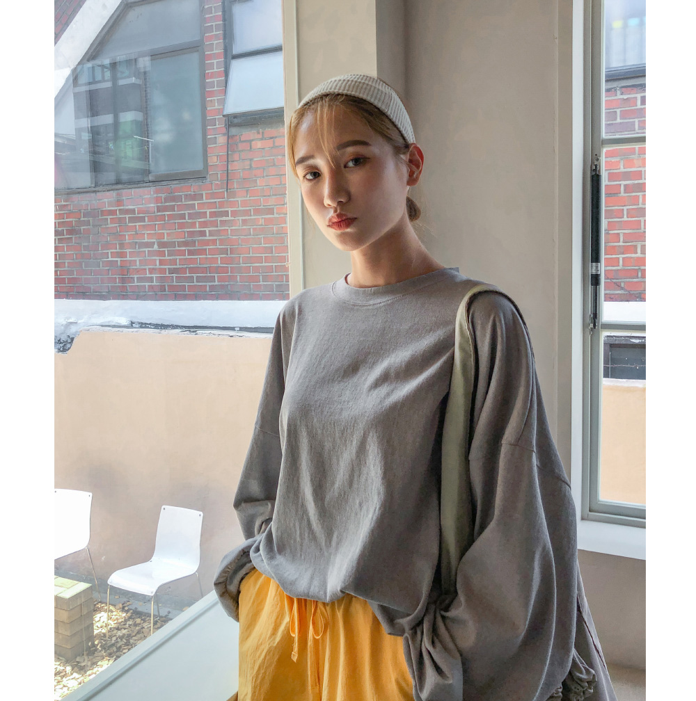 Real loose fit cotton sweat shirt