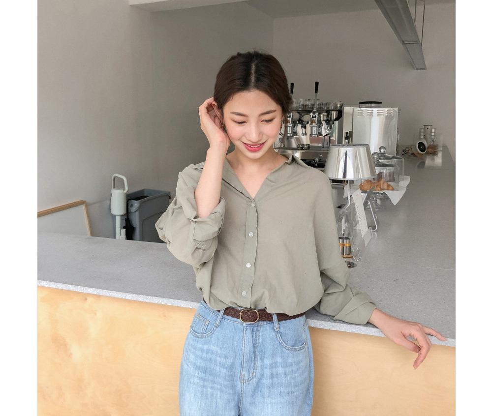 Daily Unbalance Cotton Shirt
