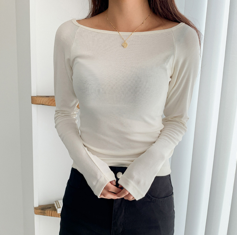 Boat Neck Slim Fit Solidity