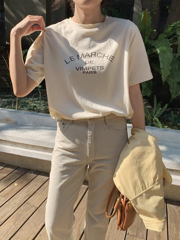 'LE MARCHE' lettering Short-sleeved