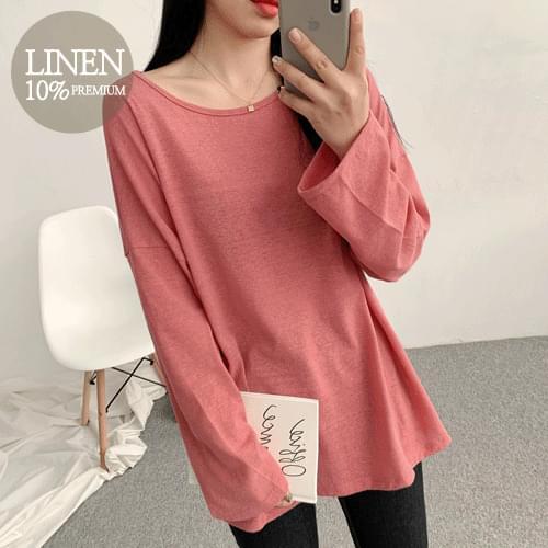 Easy Rouge Linen T-shirt
