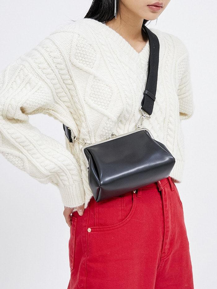 leather clutch cross bag (2 color)