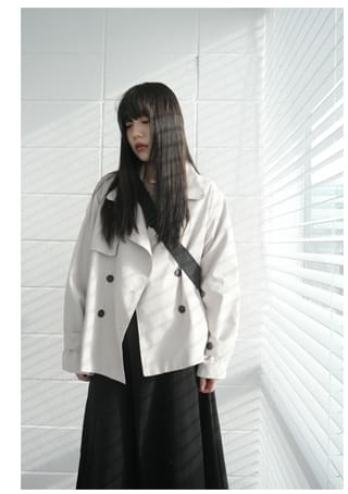 half trench coat (3colors)