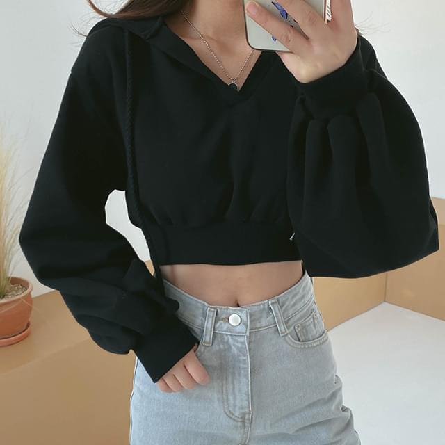Cropped Sugar Hooded sweat shirt