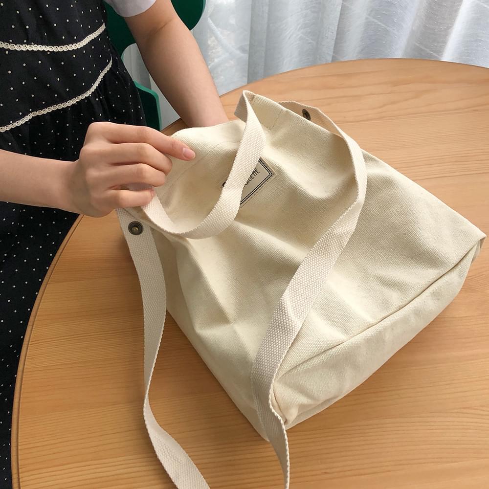 手提/斜背 方形帆布小包(4色)