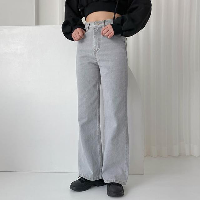 Gray Butter Wide Pants