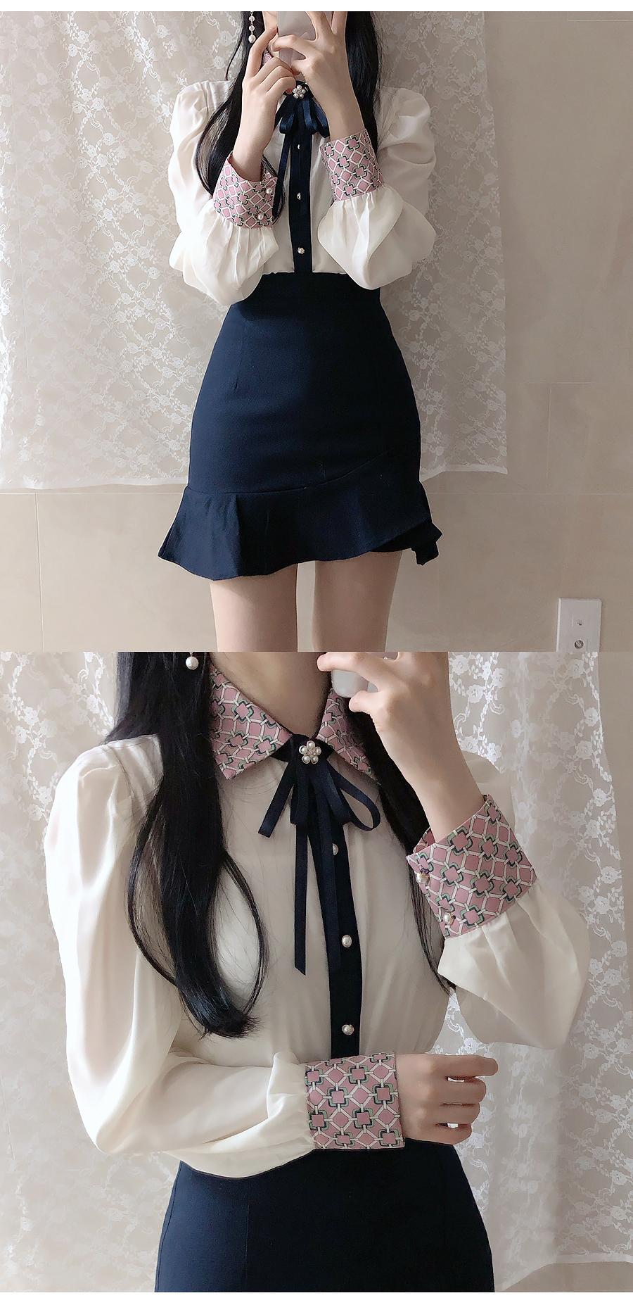 Brooch set Kaeli color blouse
