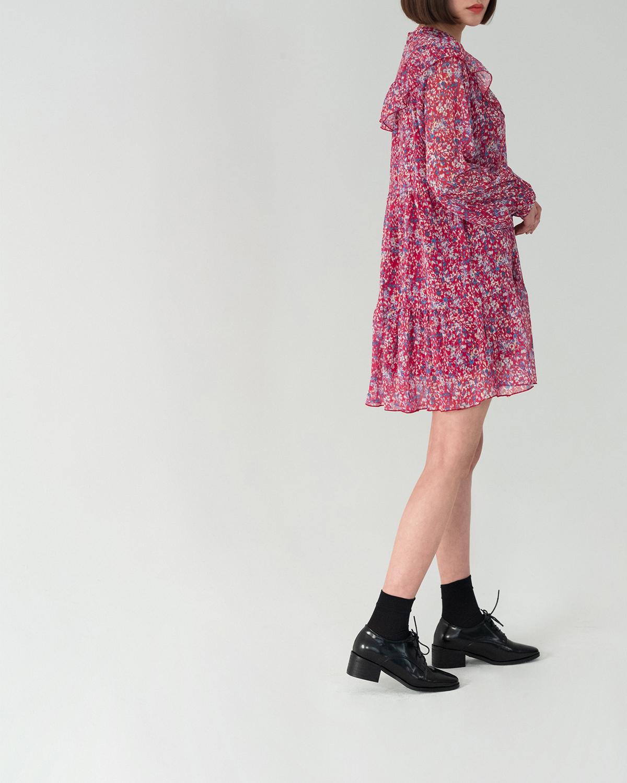 Lovely Flower Ruffle Dress