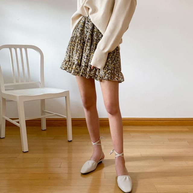 Flower Cancan Mini Skirt