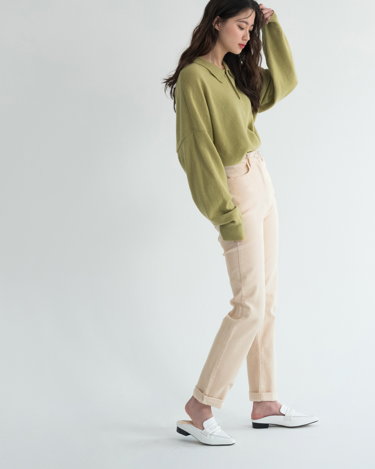 Simple Daily Roll-Up Cotton Pants