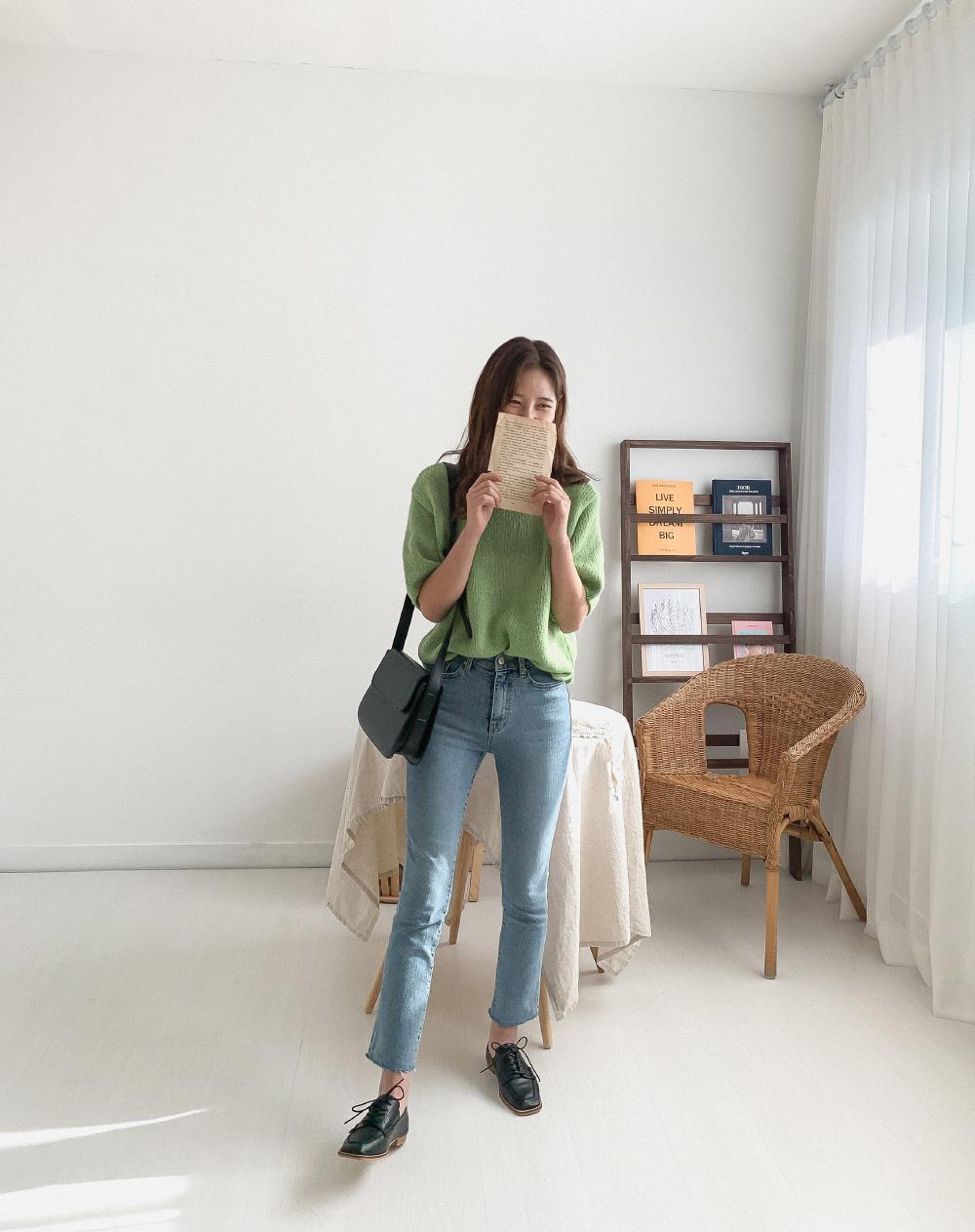 Van high waist slim cutting jeans