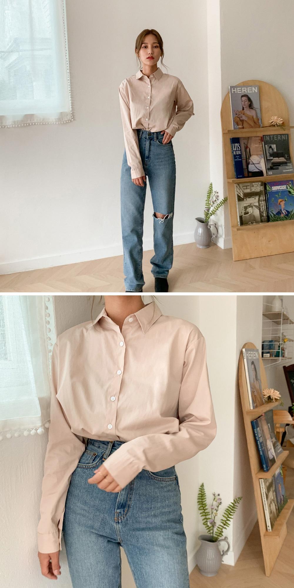 Simple Cutting Damage Date Jeans