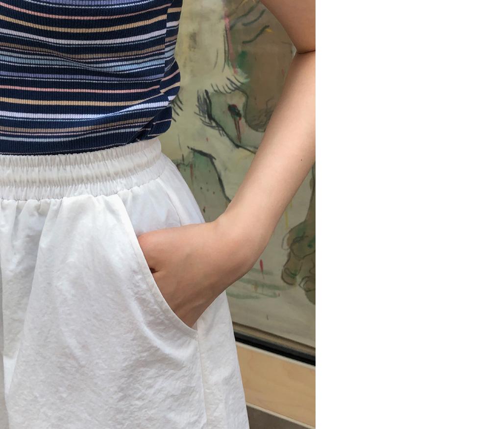 Strap Banding Mini Skirt