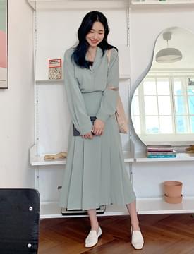 Mellow soft long skirt_J (size : free)