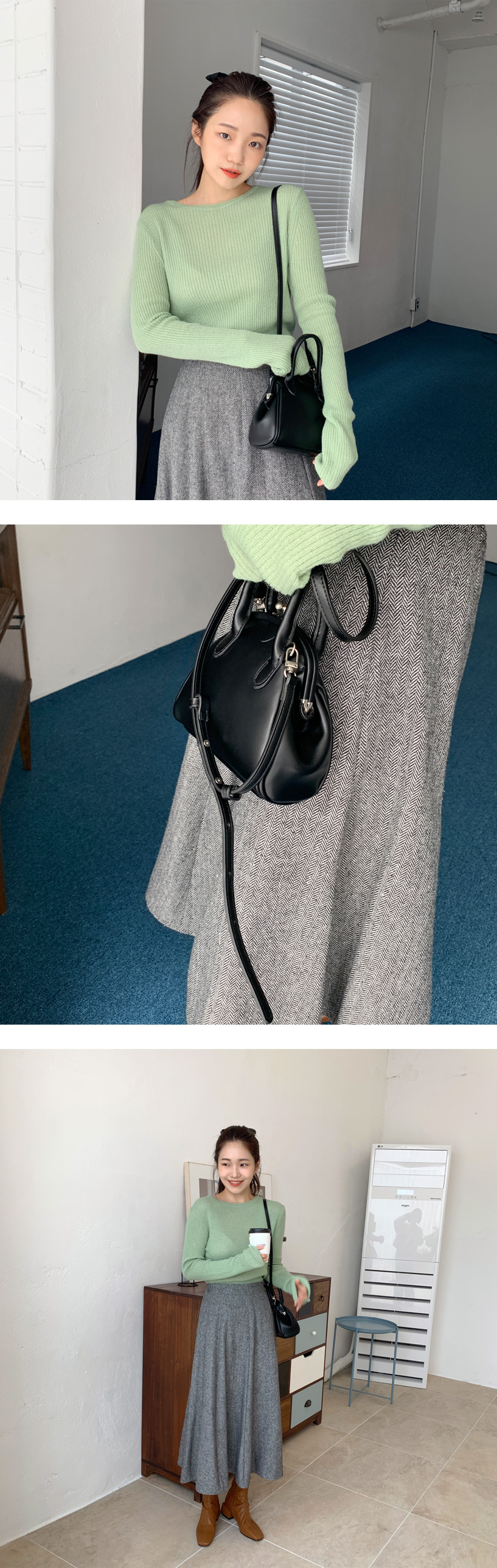 Coin two-way strap bag_C