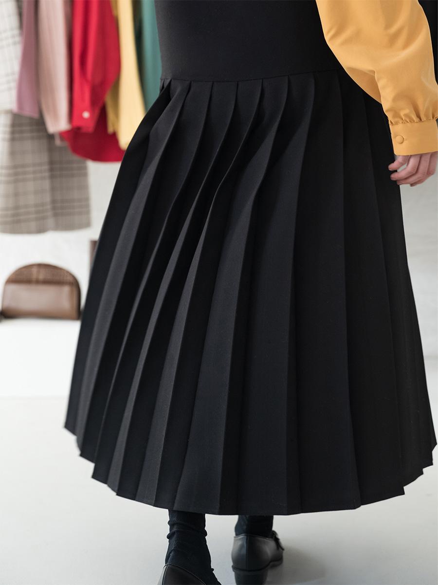 Bustier pleated long dress