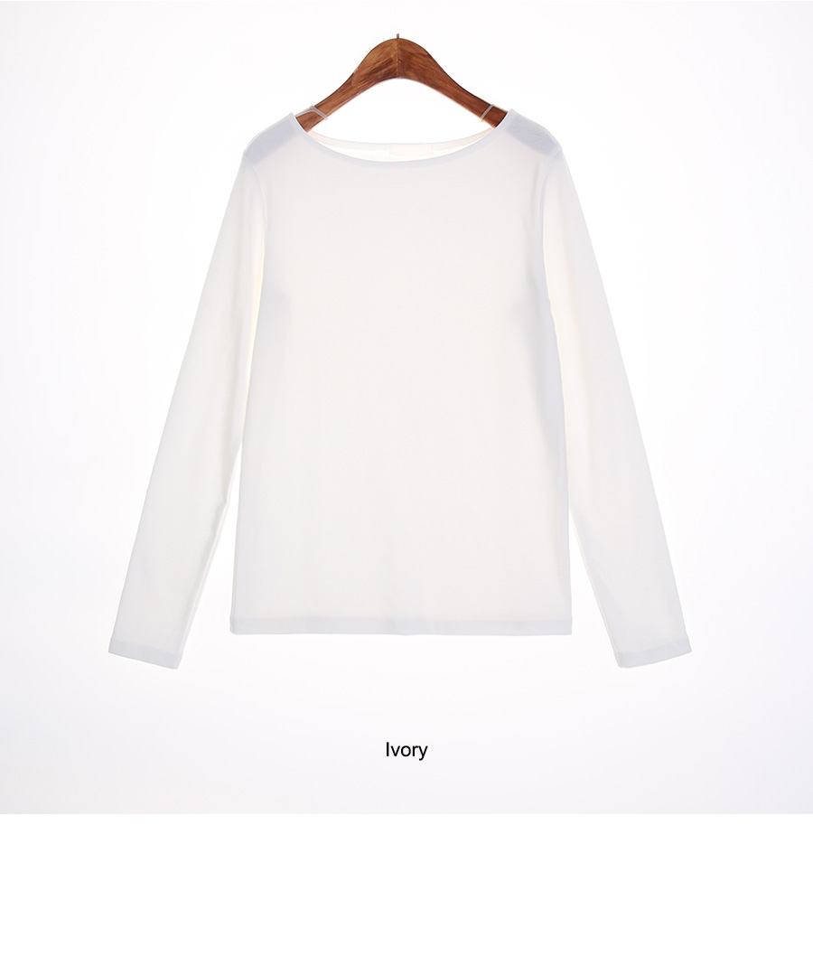 Simple Boat Neck T-Shirt