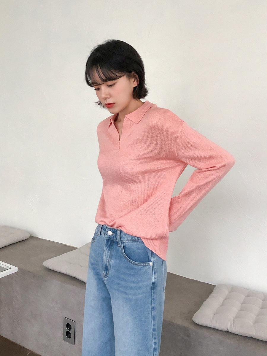 Basic spring collar knit