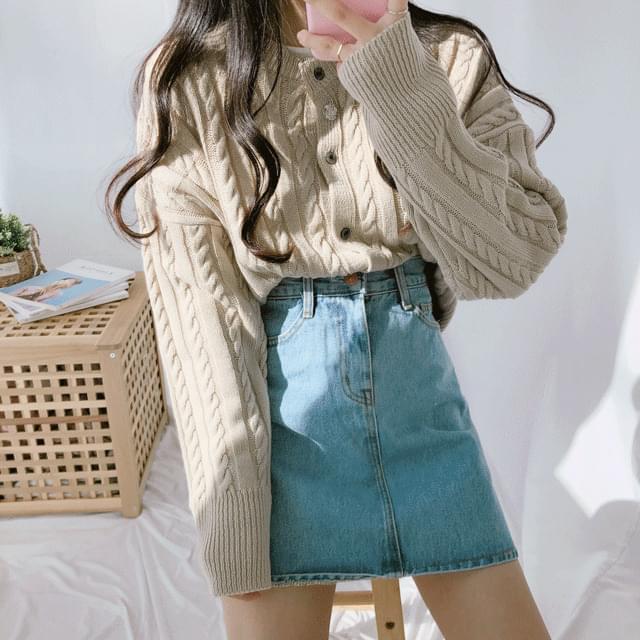簡約百搭 素色麻花針織開衫(5色)