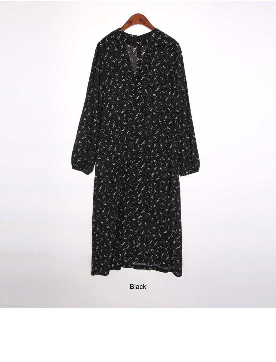 Lilac V-neck Long Dress