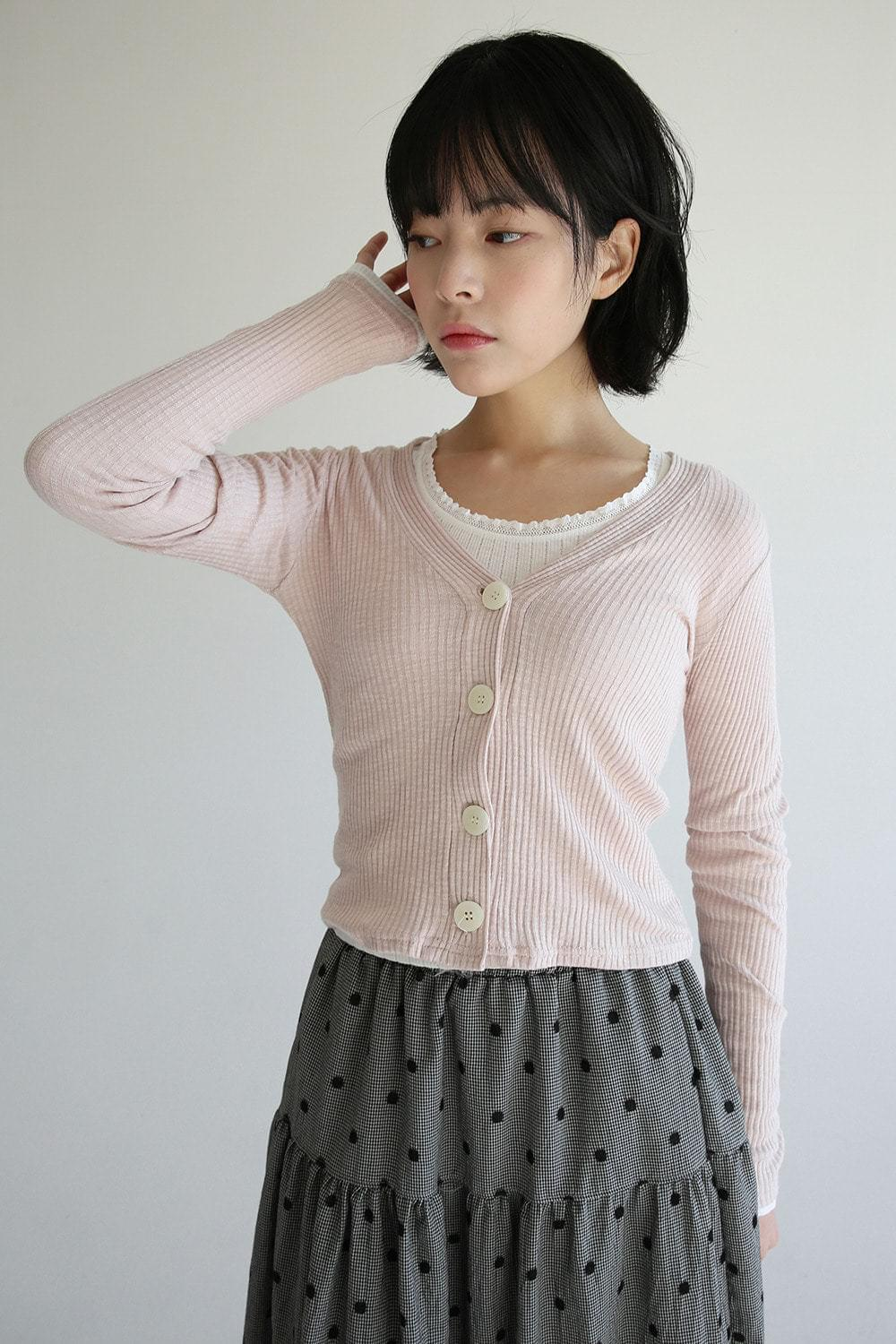 v neck fitted cardigan