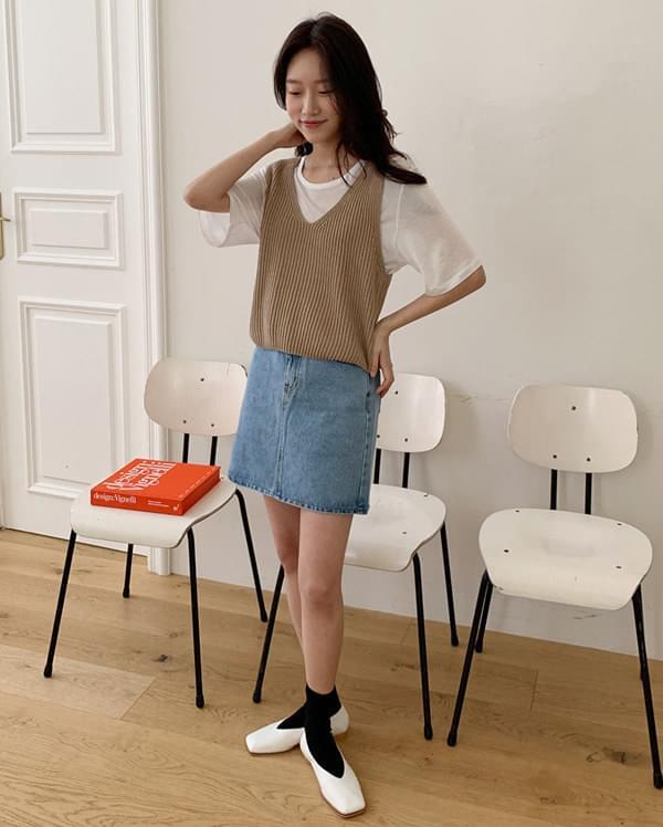niju daily knit vest カーディガン & ベスト