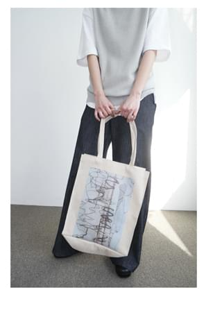 rough printing cotton bag