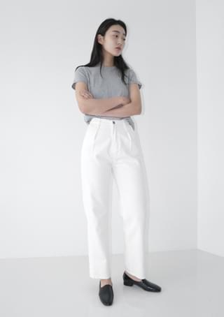 pintuck line cotton pants (3colors)