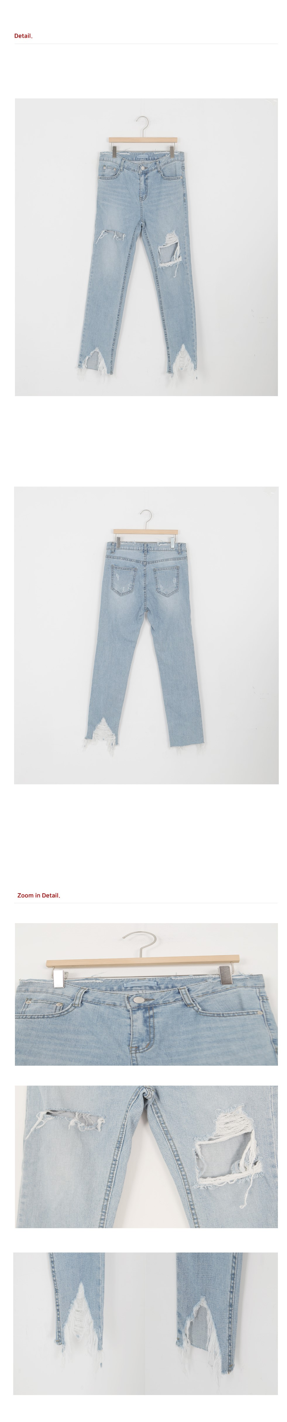 SALE) damage cutting denim underwear