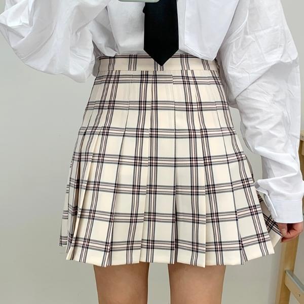 Syrup Check Tennis Skirt