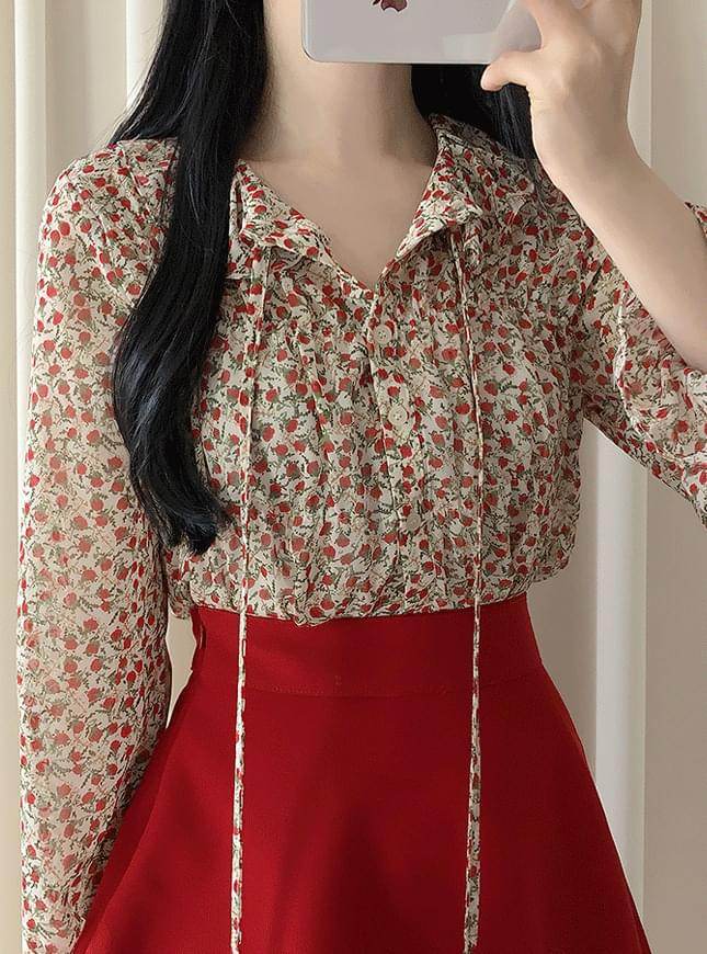 Berry Flower Blouse blouses