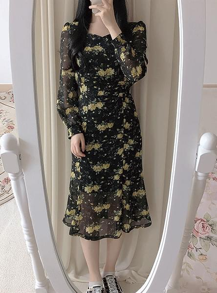 ♥ Teach Mermaid Flower Long Dress dresses