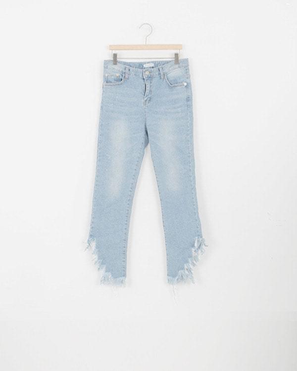 SALE) retro cutting jeans