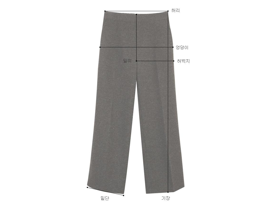 Suitable width wool overalls