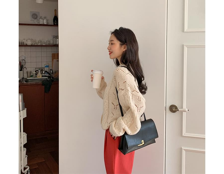 Room cable round cardigan_P (size : free)