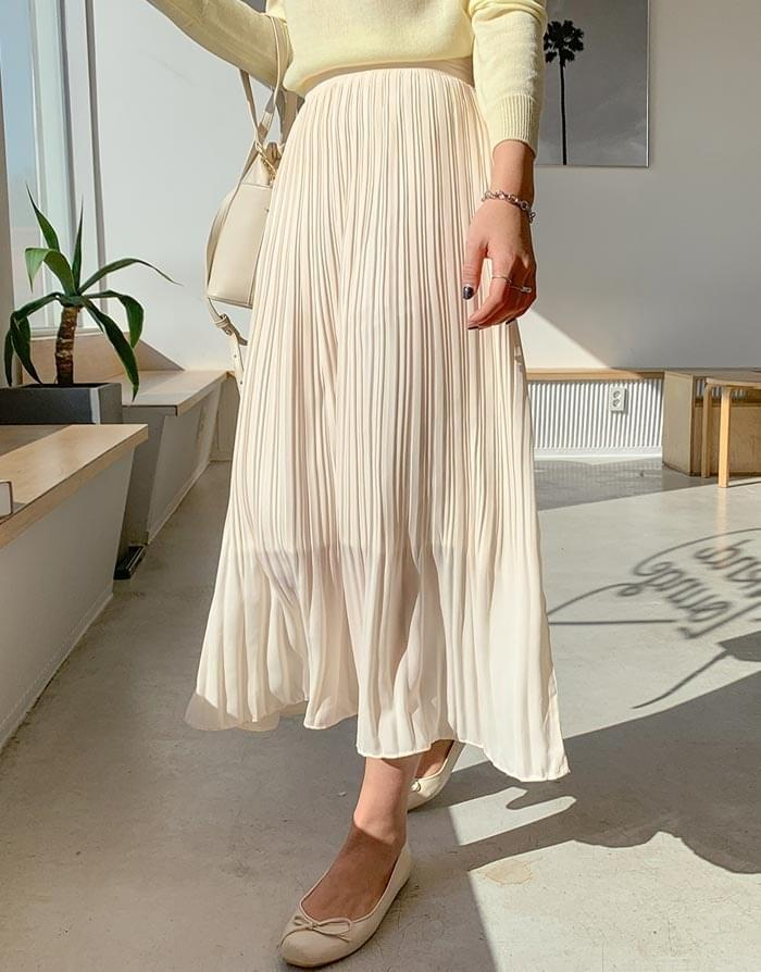 Week chiffon pleated long skirt skirt