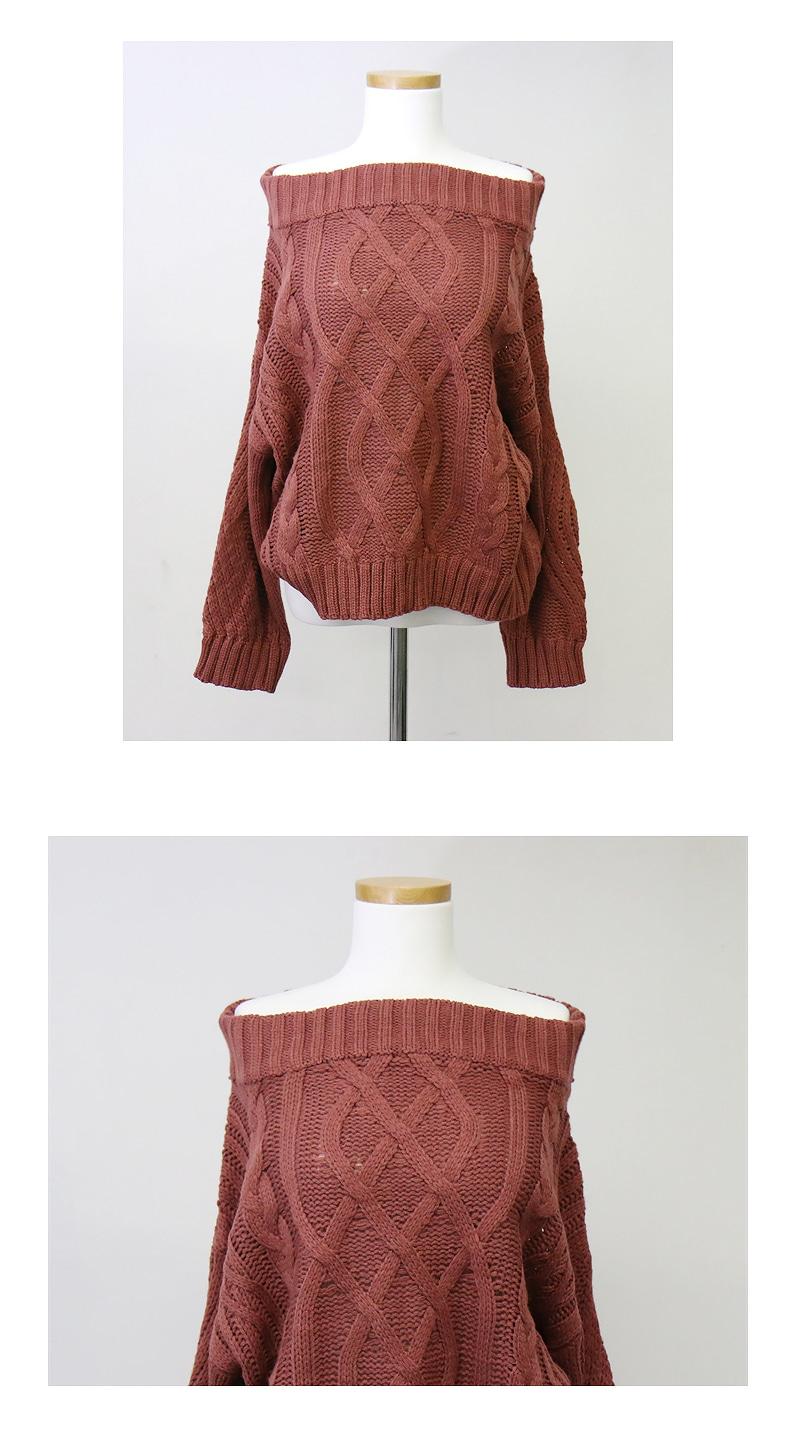 Pretzel Off Shoulder Knit