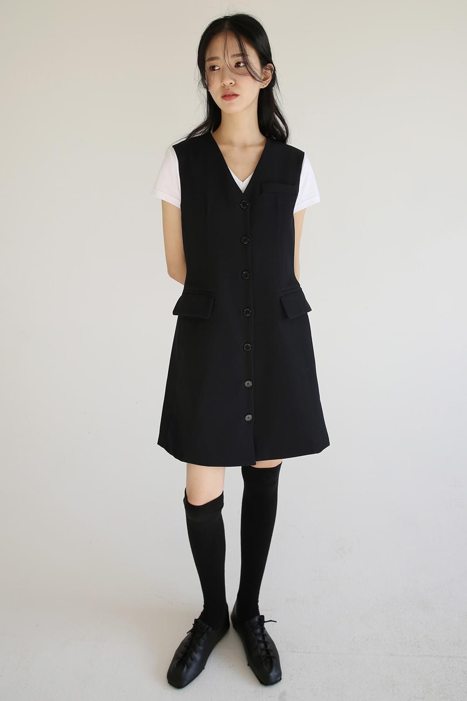vintage slim vest dress