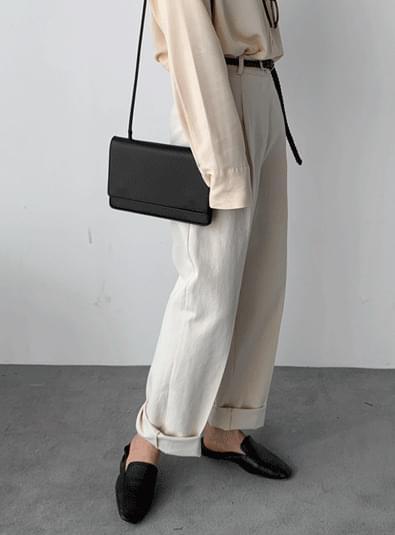 Pintuck cotton wide pants 長褲