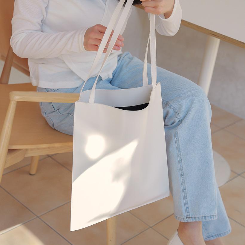 Leather simple slim bag_Y