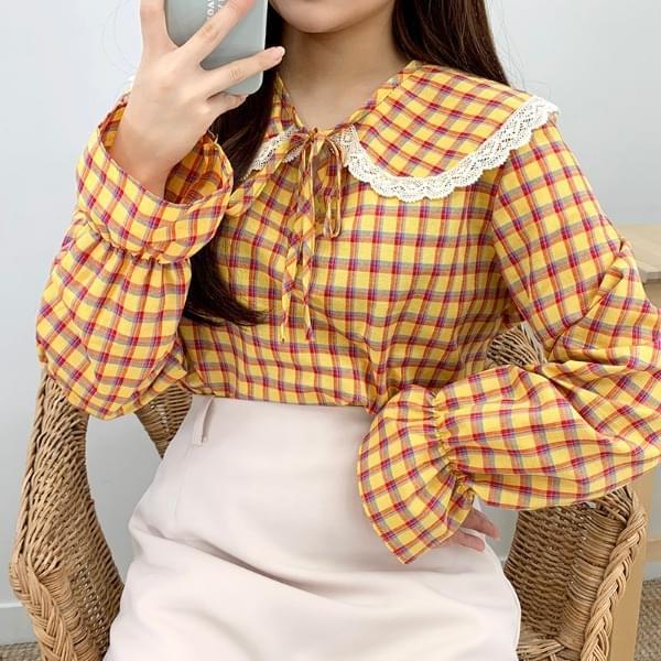 Lavenda check blouse