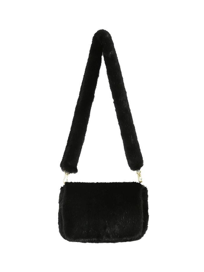eco-fur shoulder bag (2 color)