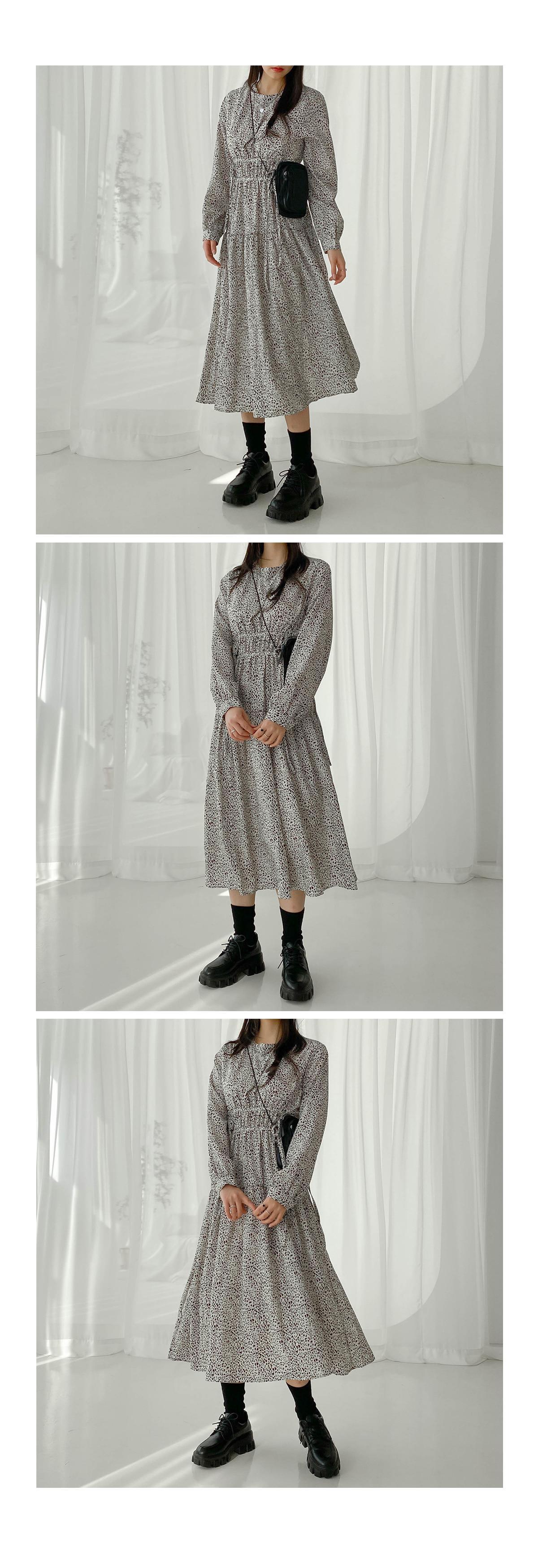 Shirring Lodi Long Dress