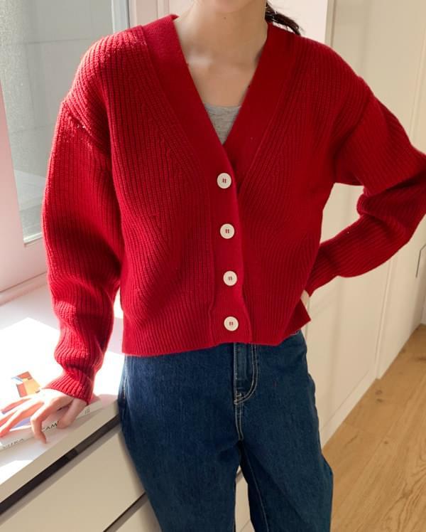hold daily short wool cardigan カーディガン & ベスト